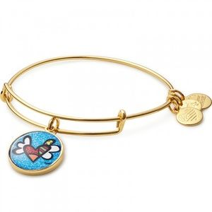 Alex and Ani Heart with Wings Gold Bracelet